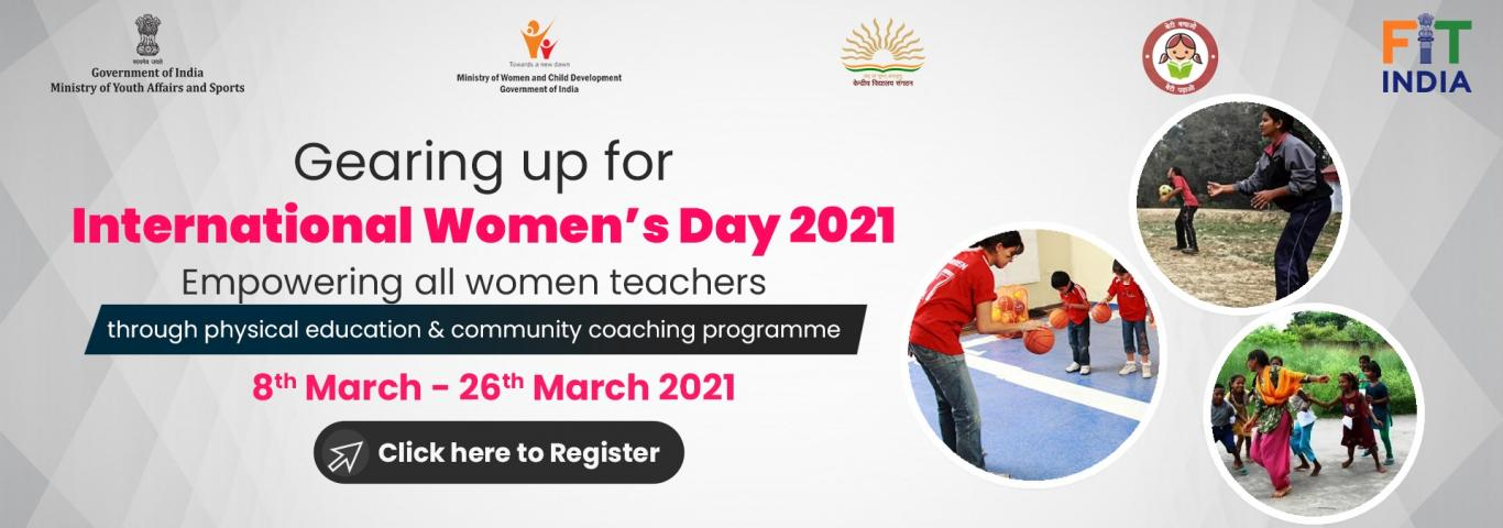 Fit India movement: empowering women PE teachers and community/ sports coaches in the field of